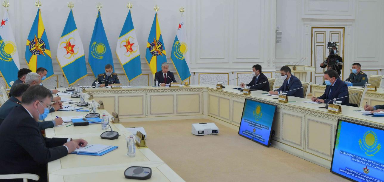 Токаев на расширенном заседании коллегии министерства обороны