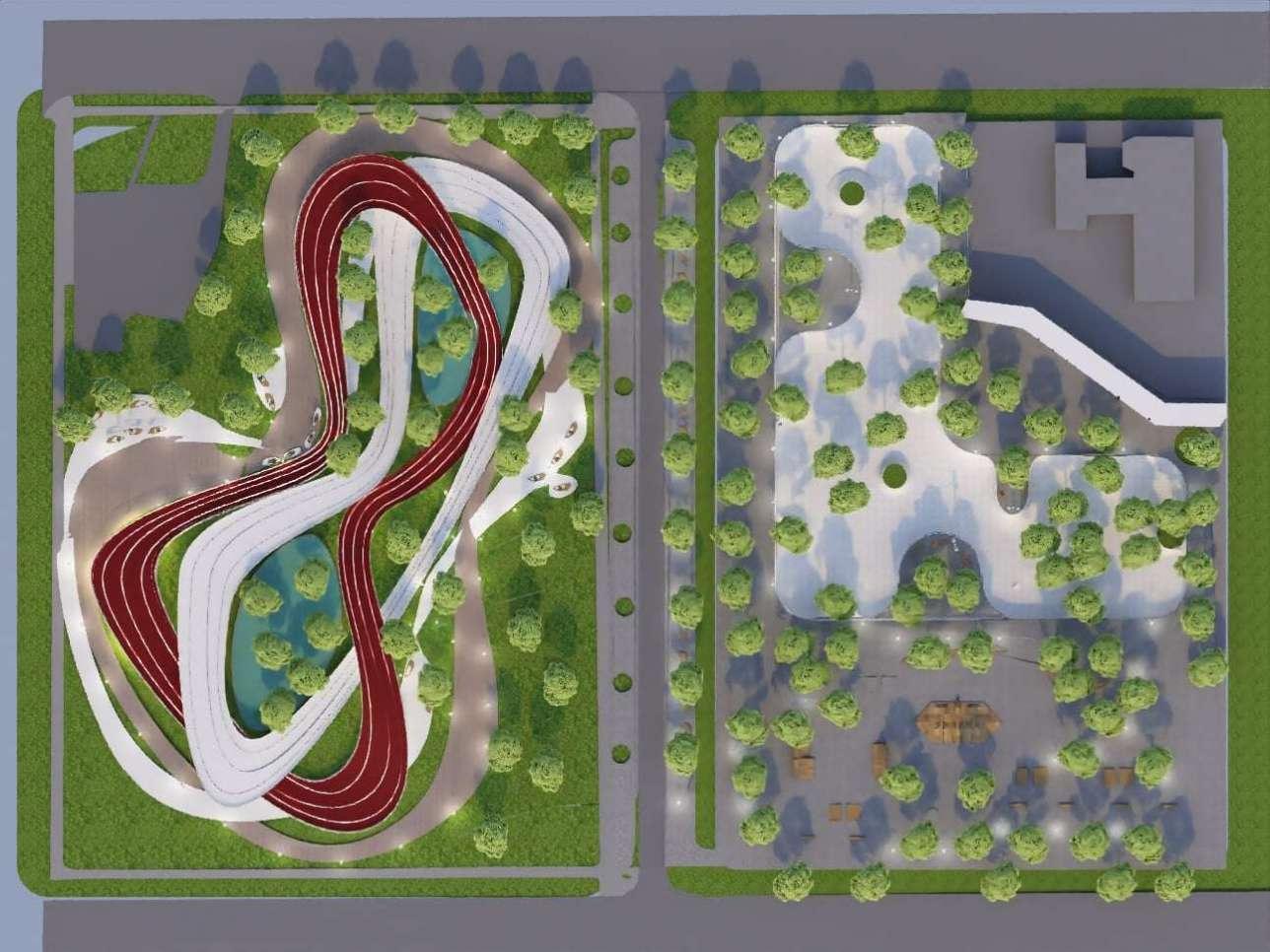 Предложенный проект преобразования сквера вдоль улицы Байсеитовой