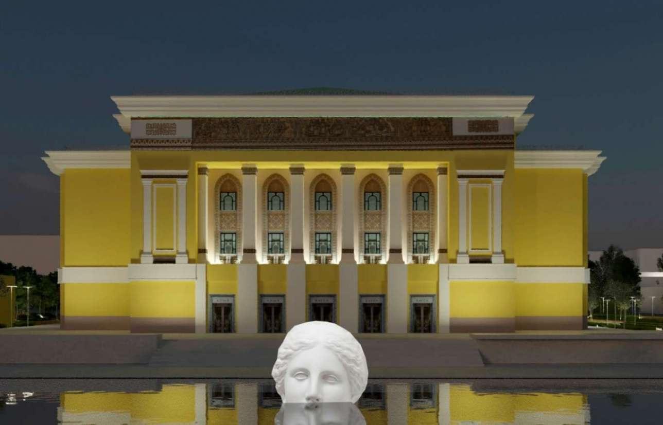 Предложенный вариант реконструкции фонтана перед ГАТОБ