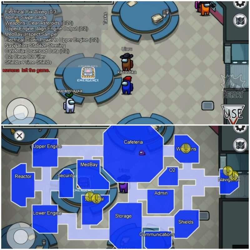 Вид персонажей и карта