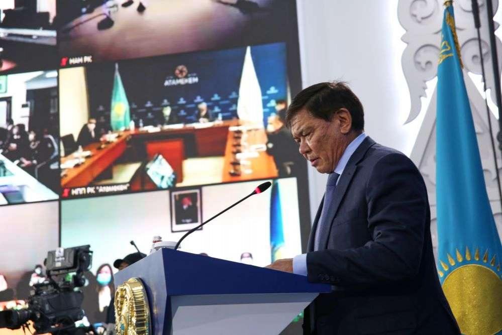 Ермухамет Ертысбаев на конференции