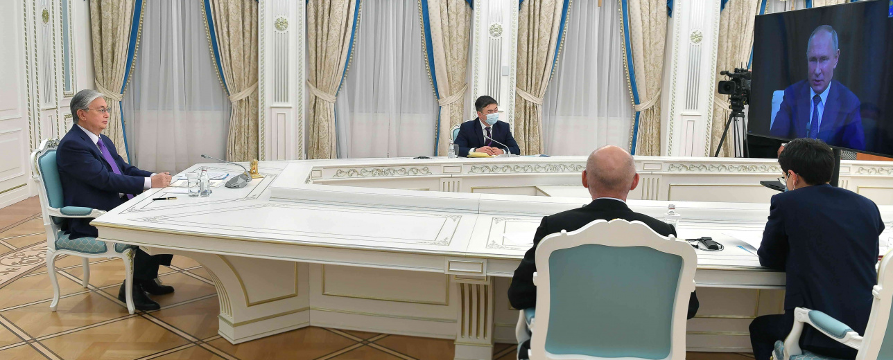 Касым-Жомарт Токаев выступил на онлайн-конференции Artificial Intelligence Journey