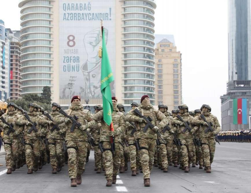 Парад победы прошёл в столице Азербайджана