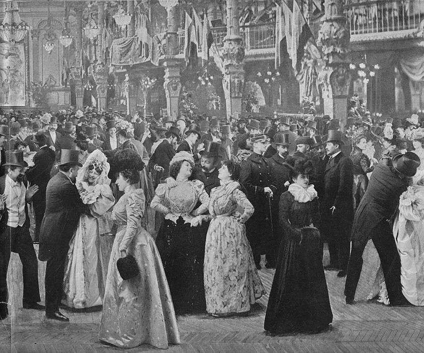 Казино де Паридің іші. Белгісіз суретшінің 1900 жылғы суретінің көшірмесі