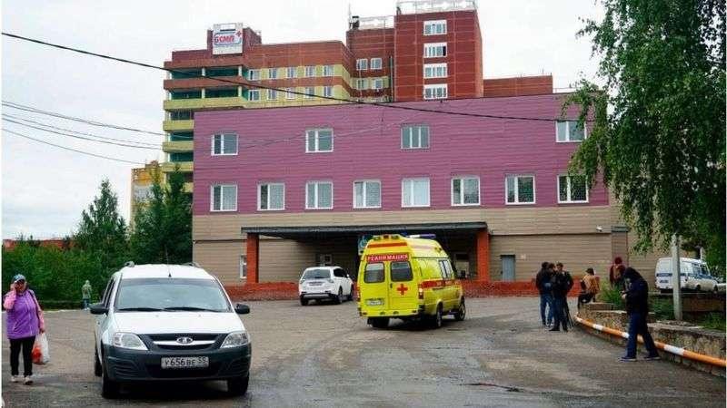 Омская больница, в которой лежал Навальный