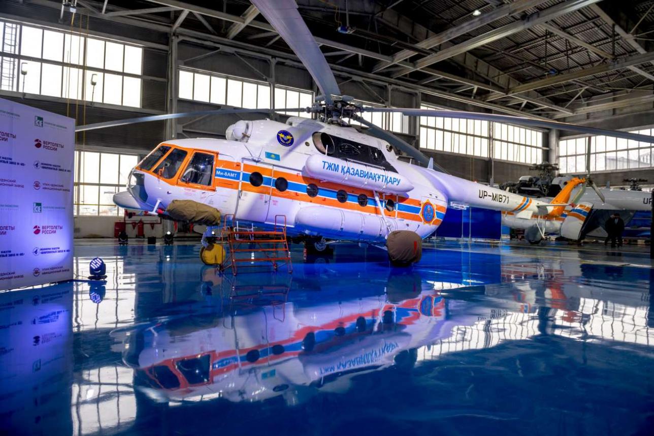 Для МЧС РК планируется собрать в Алматы 11 таких вертолетов