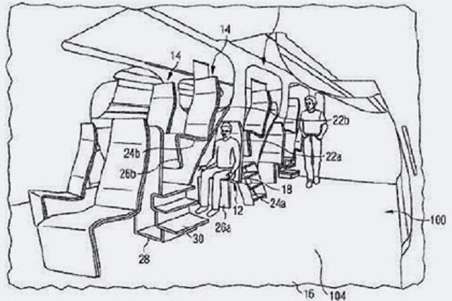 Двухуровневые кресла для бизнес-класса