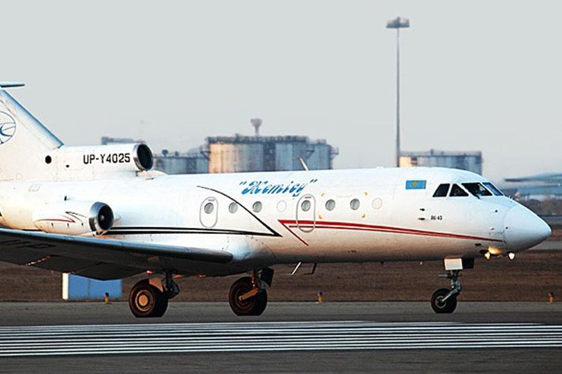 """Талдыкорганская авиакомпания """"Жетысу"""" в своём парке имеет только самолёты Як-40"""