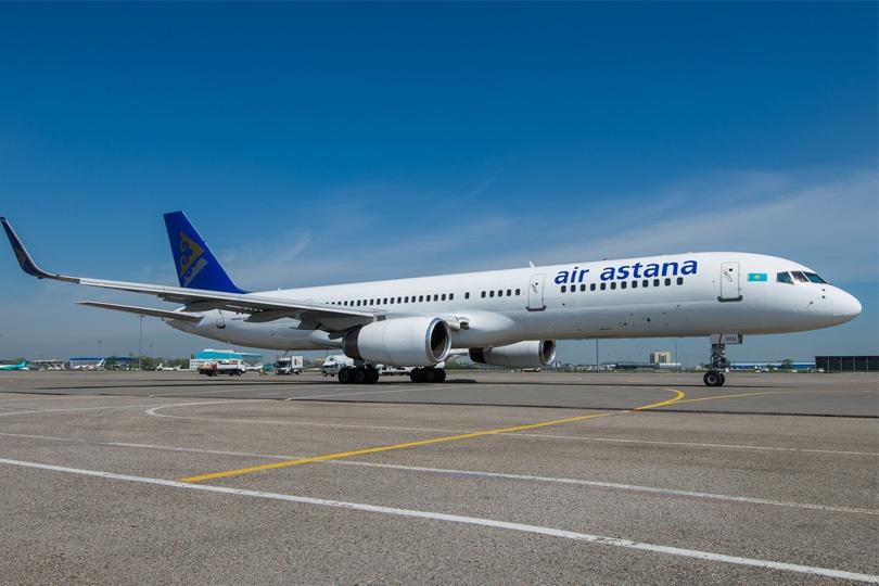Boeing 757 авиакомпании Air Astana с бортовым номером P4-KCU был выпущен более 20 лет назад