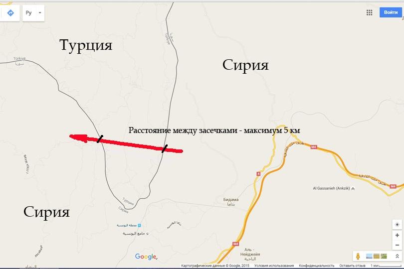 Расстояние от одной части Сирии до другой составляет в лучшем случае 5 км