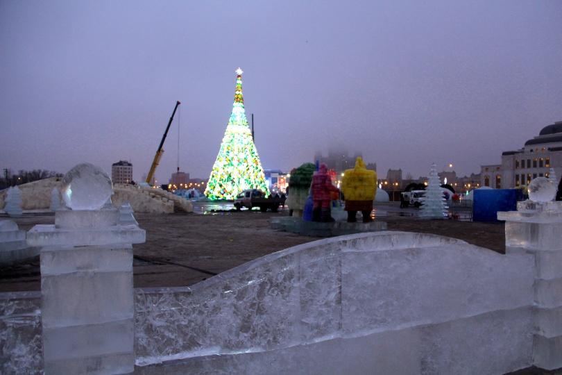 Ледовый городок в Астане откроется только при устойчивой минусовой температуре