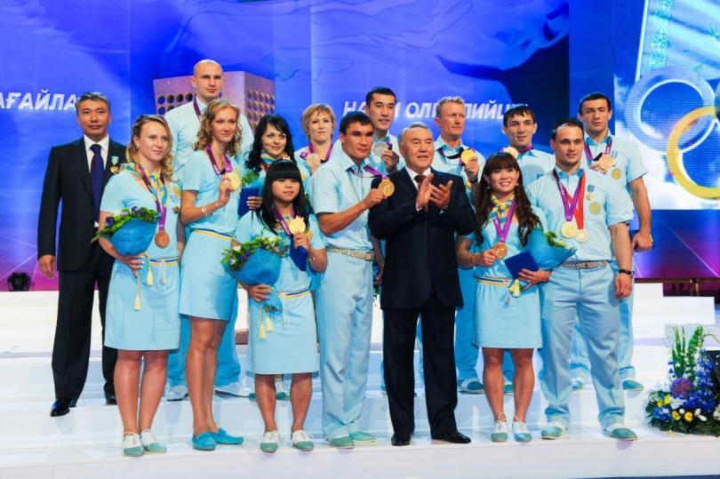 Герои лондонской Олимпиады на приёме у главы государства Нурсултана Назарбаева