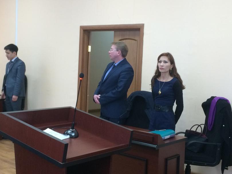 Адвокаты Матаевых Андрей Петров и Мадина Бакиева.