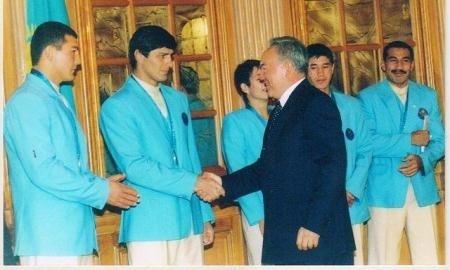 Победители и призёры сиднейской Олимпиады на приёме у Нурсултана Назарбаева