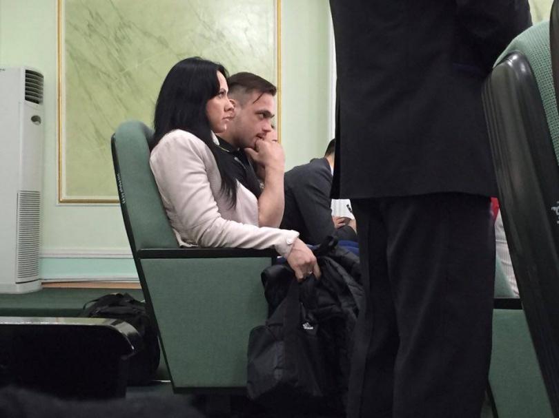 Илья Ильин в зале суда