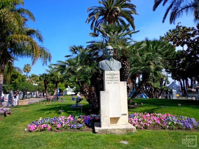 Памятник Жоржу Помиду в Каннах