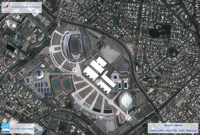 Фотография Афин с космического спутника