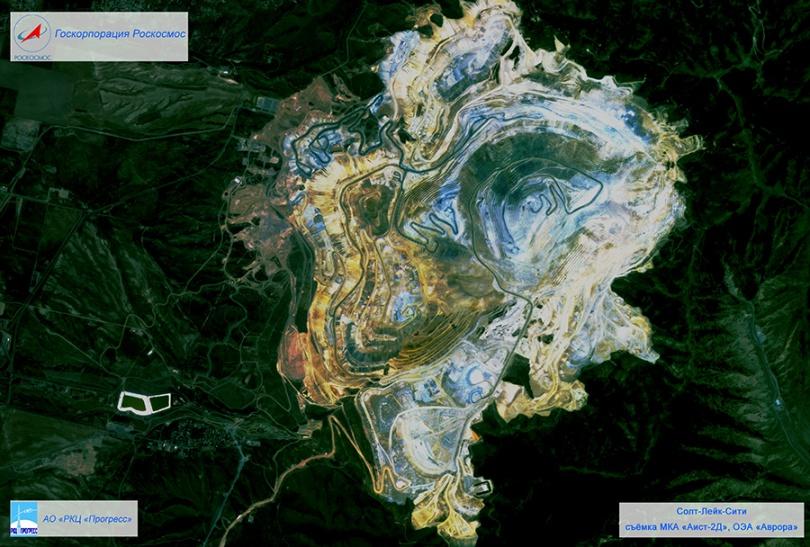Фотография Солт-Лейк-Сити с российского космического спутника