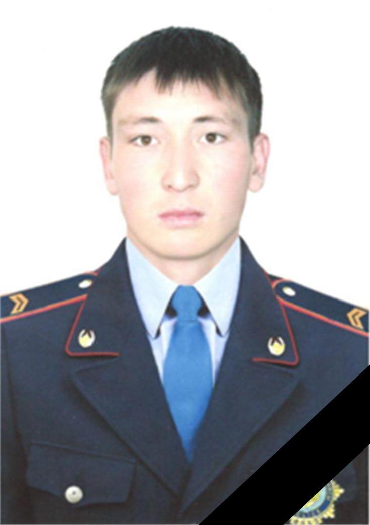 Сержант полиции Кельдибаев Жалгас Аманбаевич