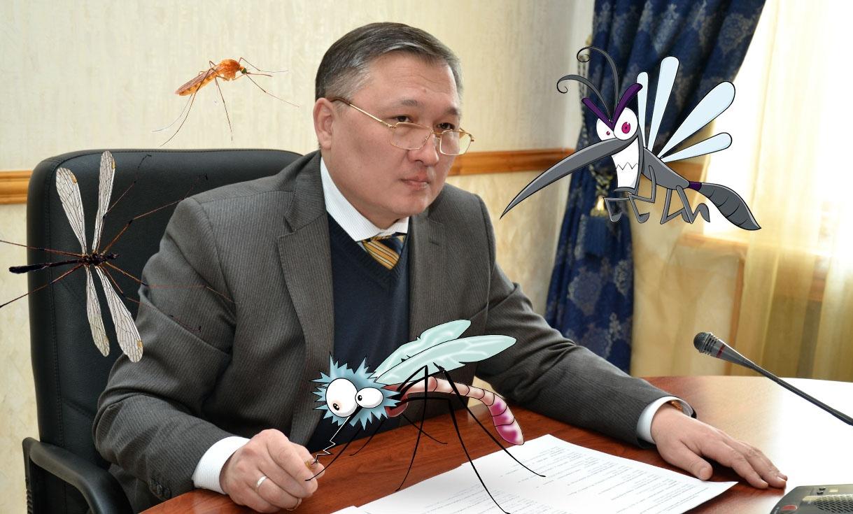 Нурмухамбет Абдибеков не менее привлекателен для комаров, чем рядовые карагандинцы