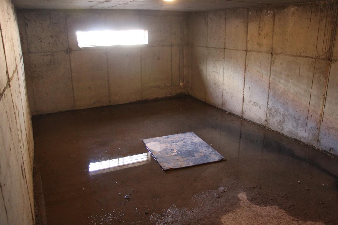 В подвале дома 1/147 стоит зловоние и течёт вода