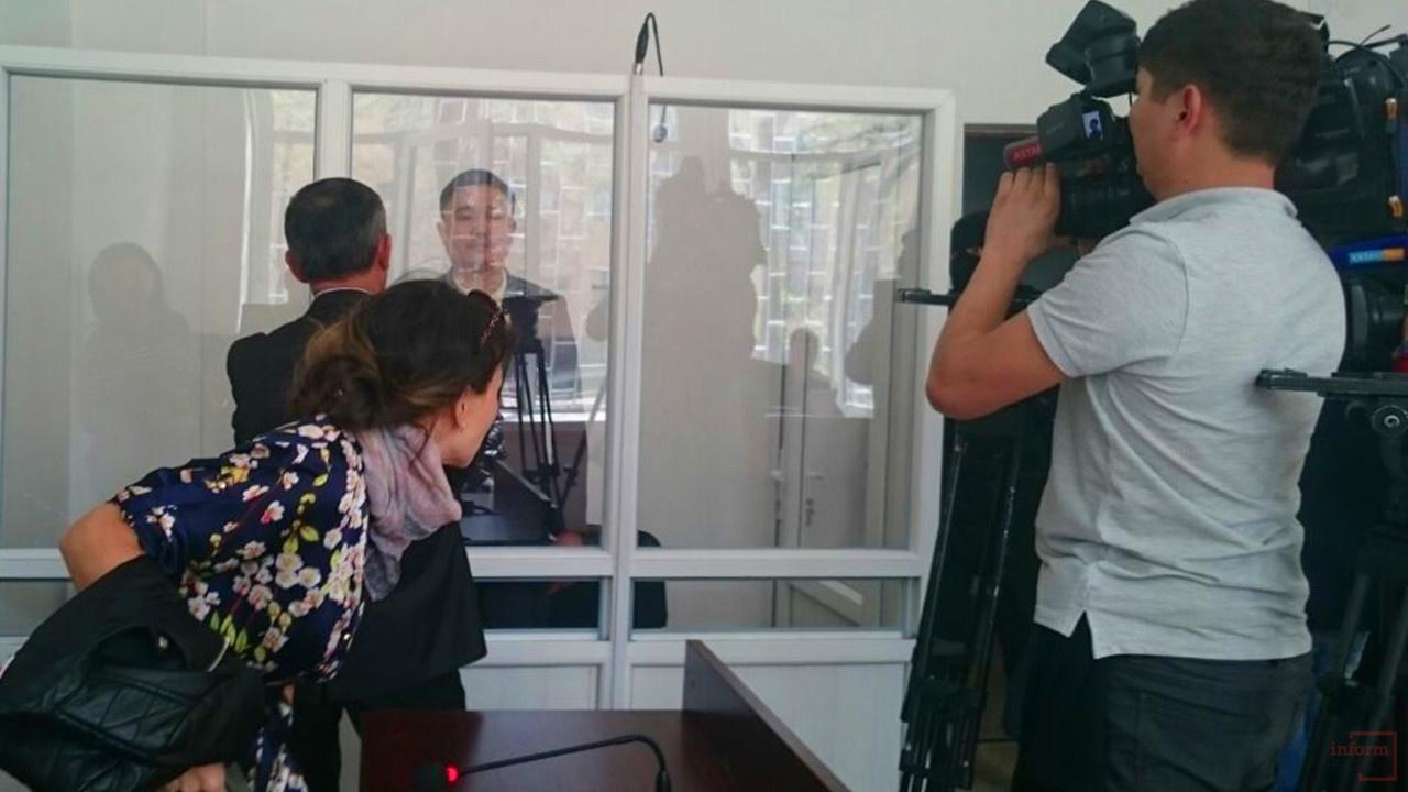 Бек Арпабаев на суде в Алматы, 28 марта 2016 год