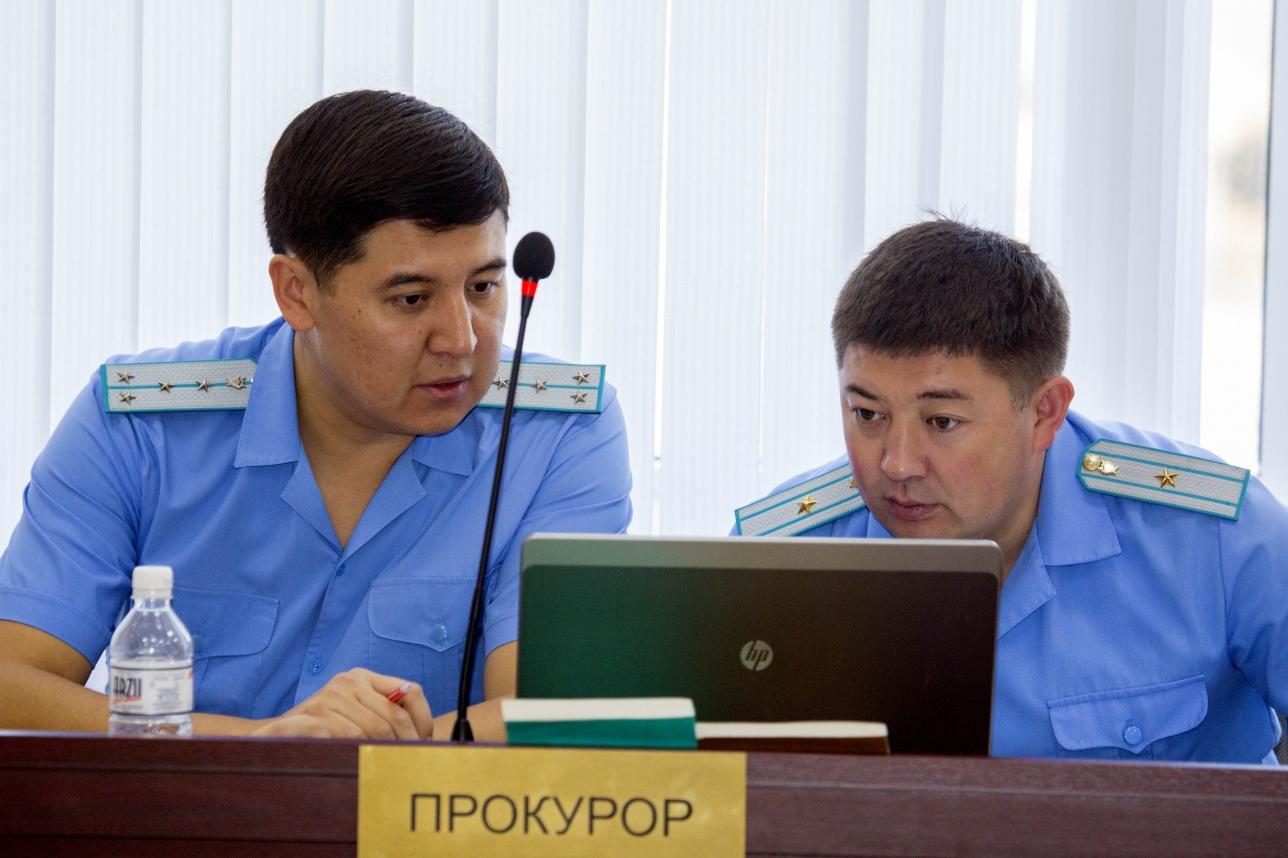 Прокуроры Ержан Куракбаев и Айдын Абаев