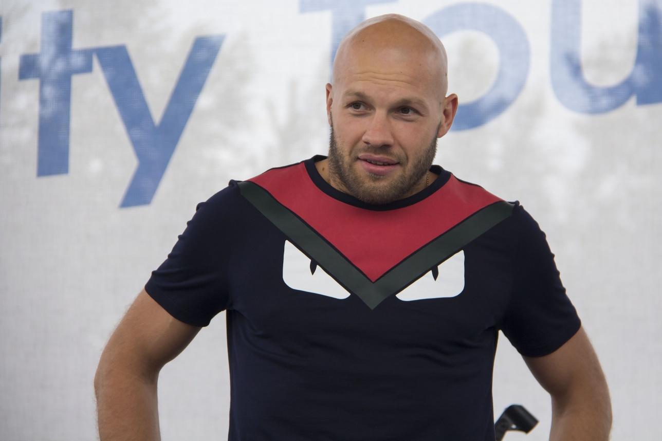 Аукцион посетил олимпийский призёр Василий Левит