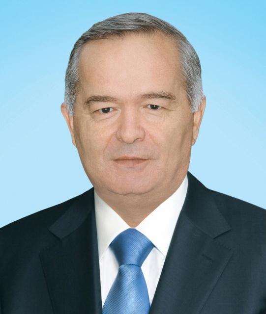 Поздравление от имени президента Узбекистана сопровождается этим фото