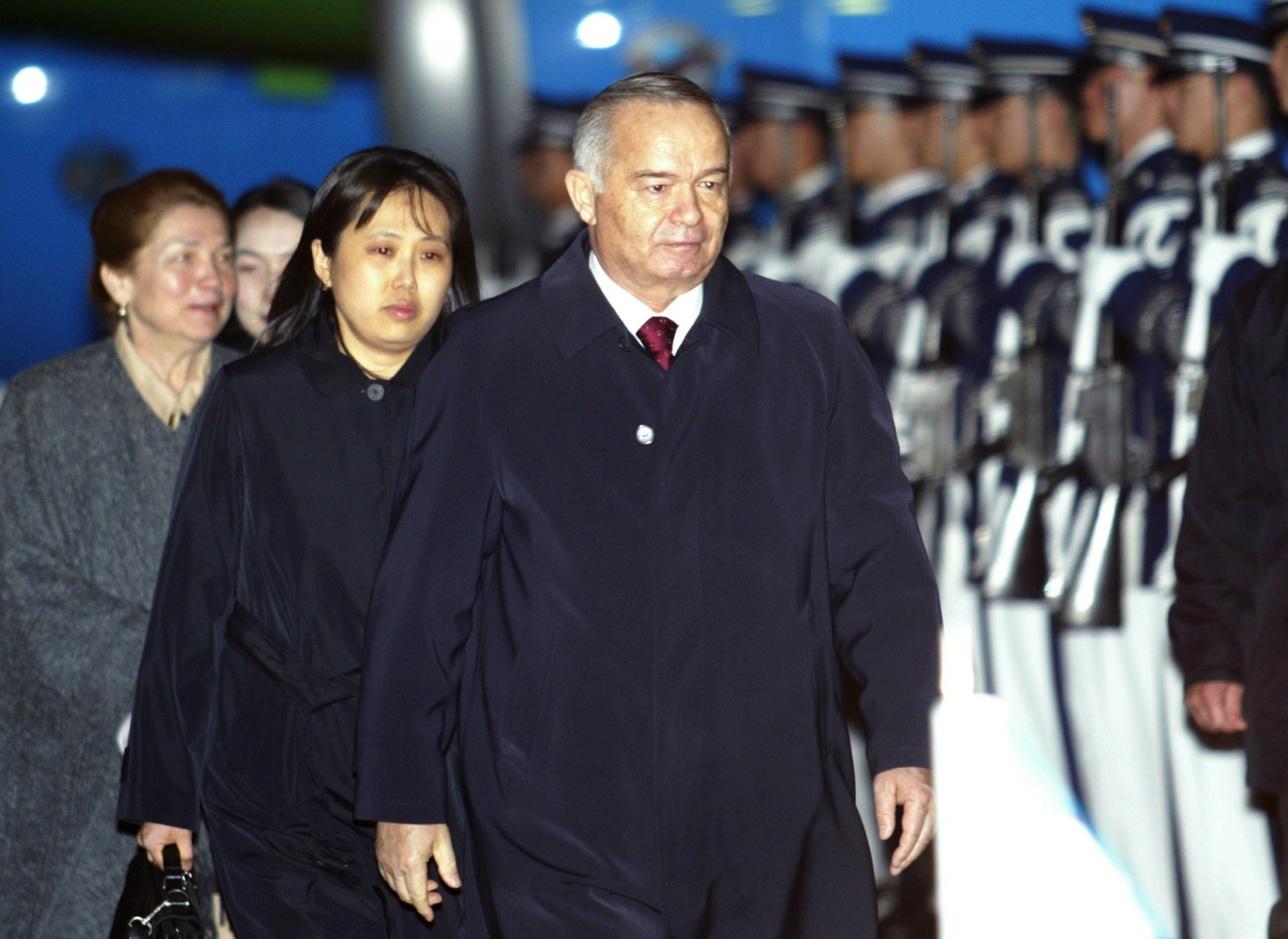 Ислам Каримов с женой Татьяной, 2006 год