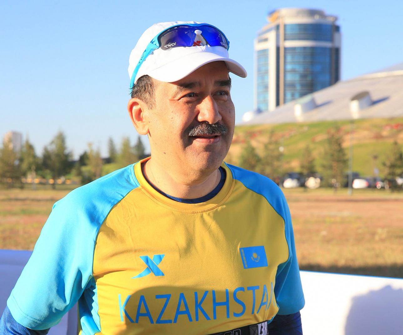 Карим Масимов на Астана Марафоне