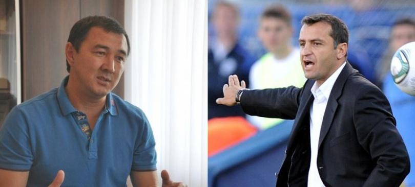 "Директор ""Тобола"" Талгат Баймуратов и тренер Вардан Минасян"