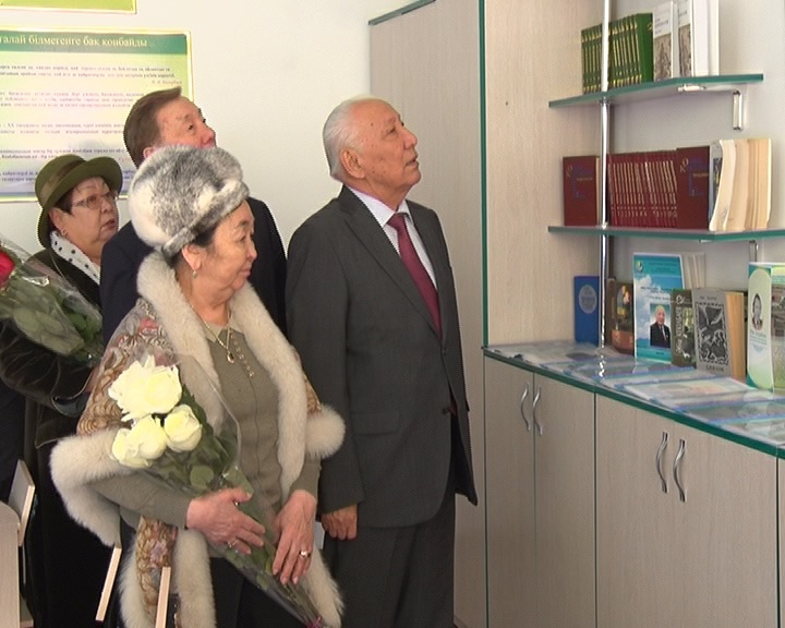 Вдова Абиша Кекильбаева приехала на открытие кабинета