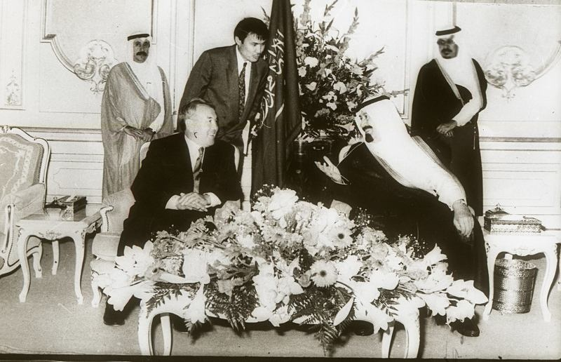 Встреча с Королём Фахд бен Абдель Азизом в 1994 году