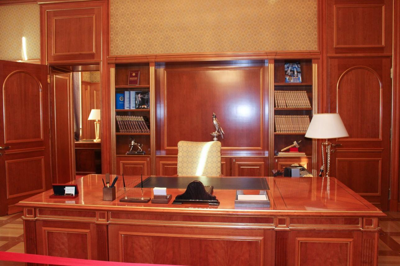 Малый рабочий зал Президента РК, где он трудился с 1997-2004 годы