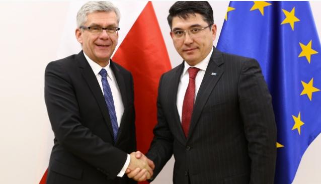 Маршал Сената Станислав Карчевский и Посол Казахстана в Польше Алтай Абибуллаев