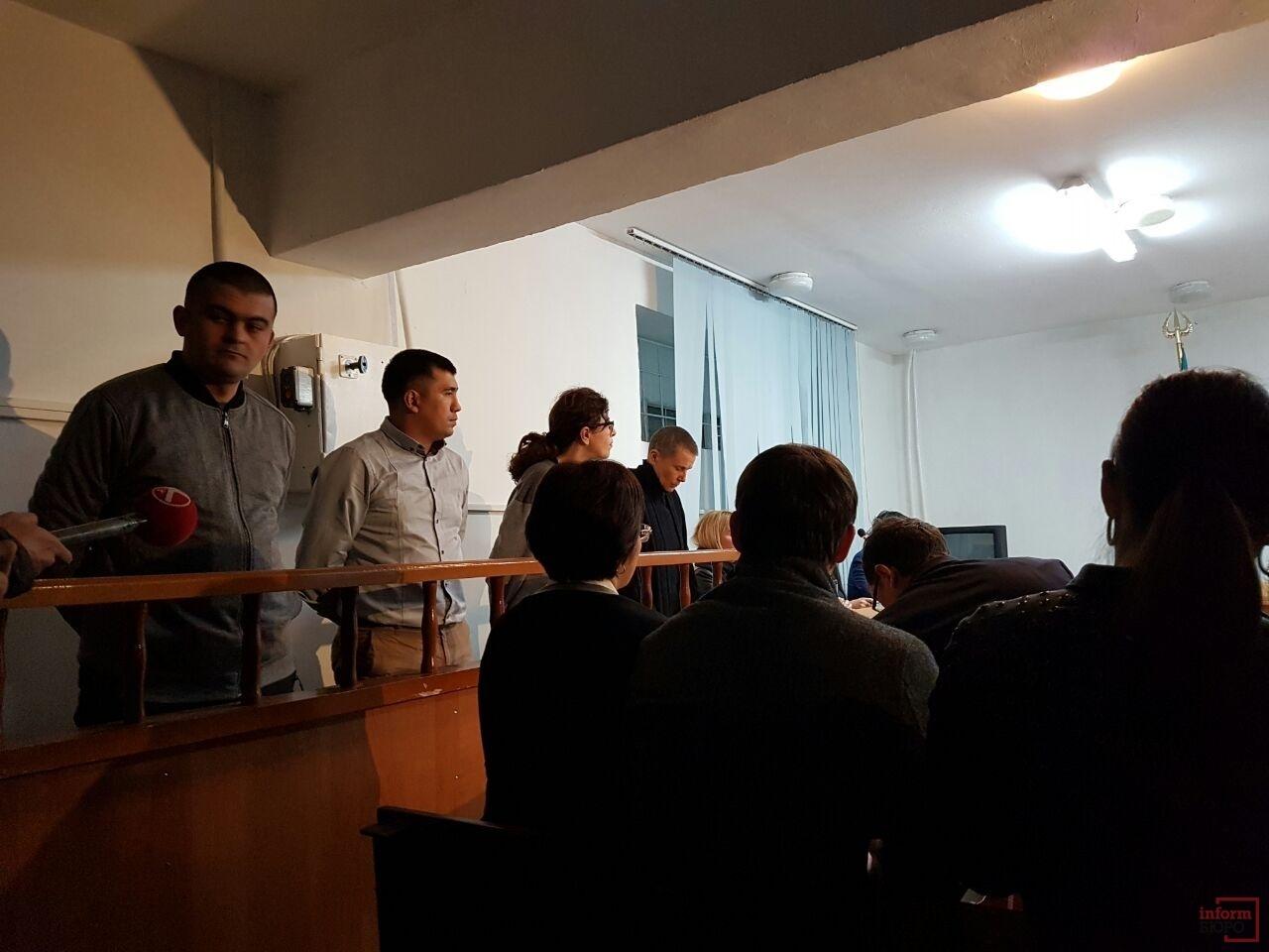 На скамье подсудимых Лилия Рах, Мири Паз, Ислам Мисиров и Бахыт Шалбаев