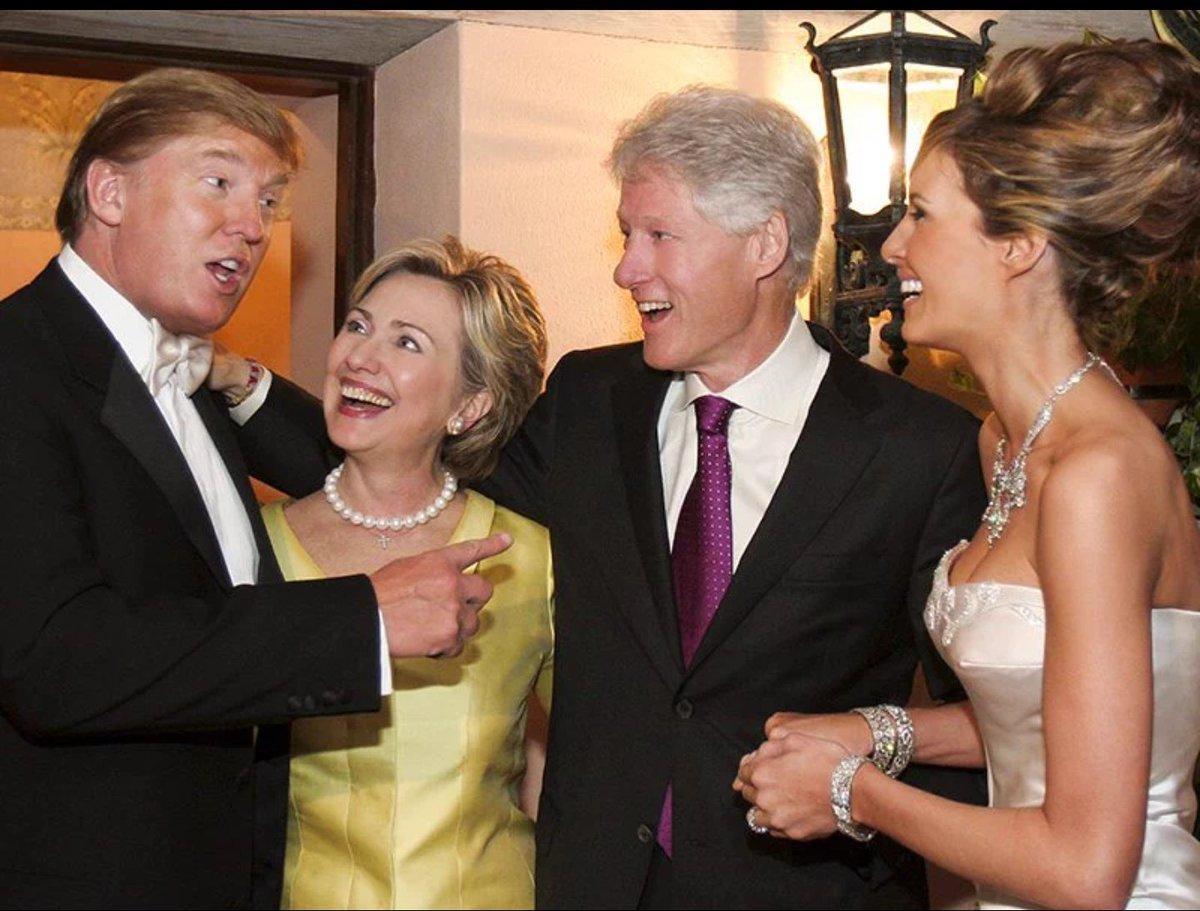 Дональд и Мелани Трамп, Хиллари и Билл Клинтон
