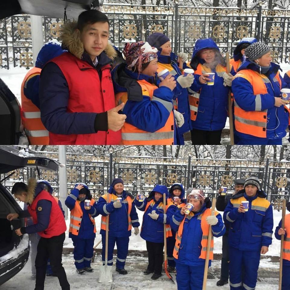 Рестораны Алматы кормят работников коммунальных служб