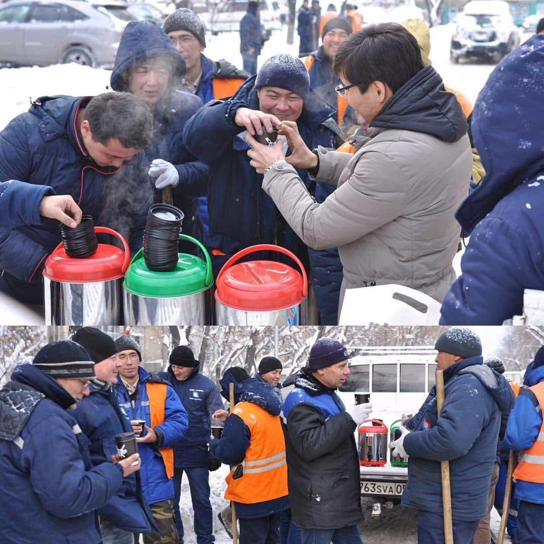 Война со снегом - войной, а обед по расписанию