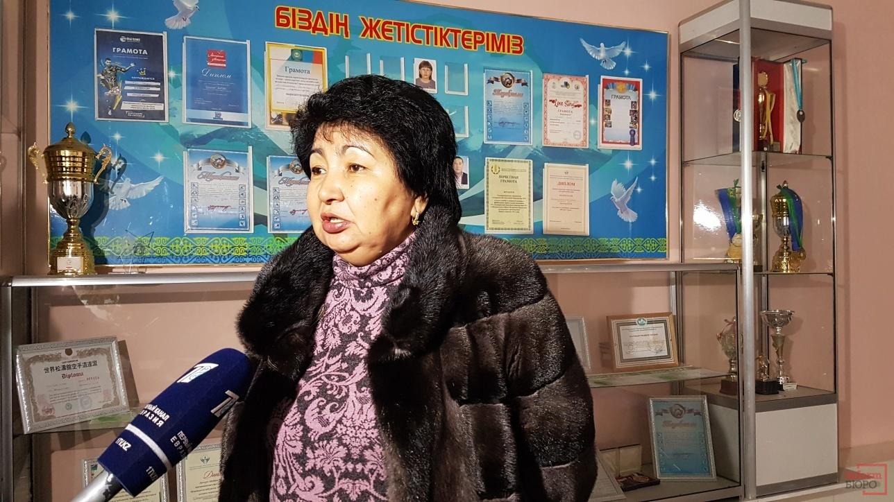 руководитель управления образования Алматинской области Ляззат Базаркулова.