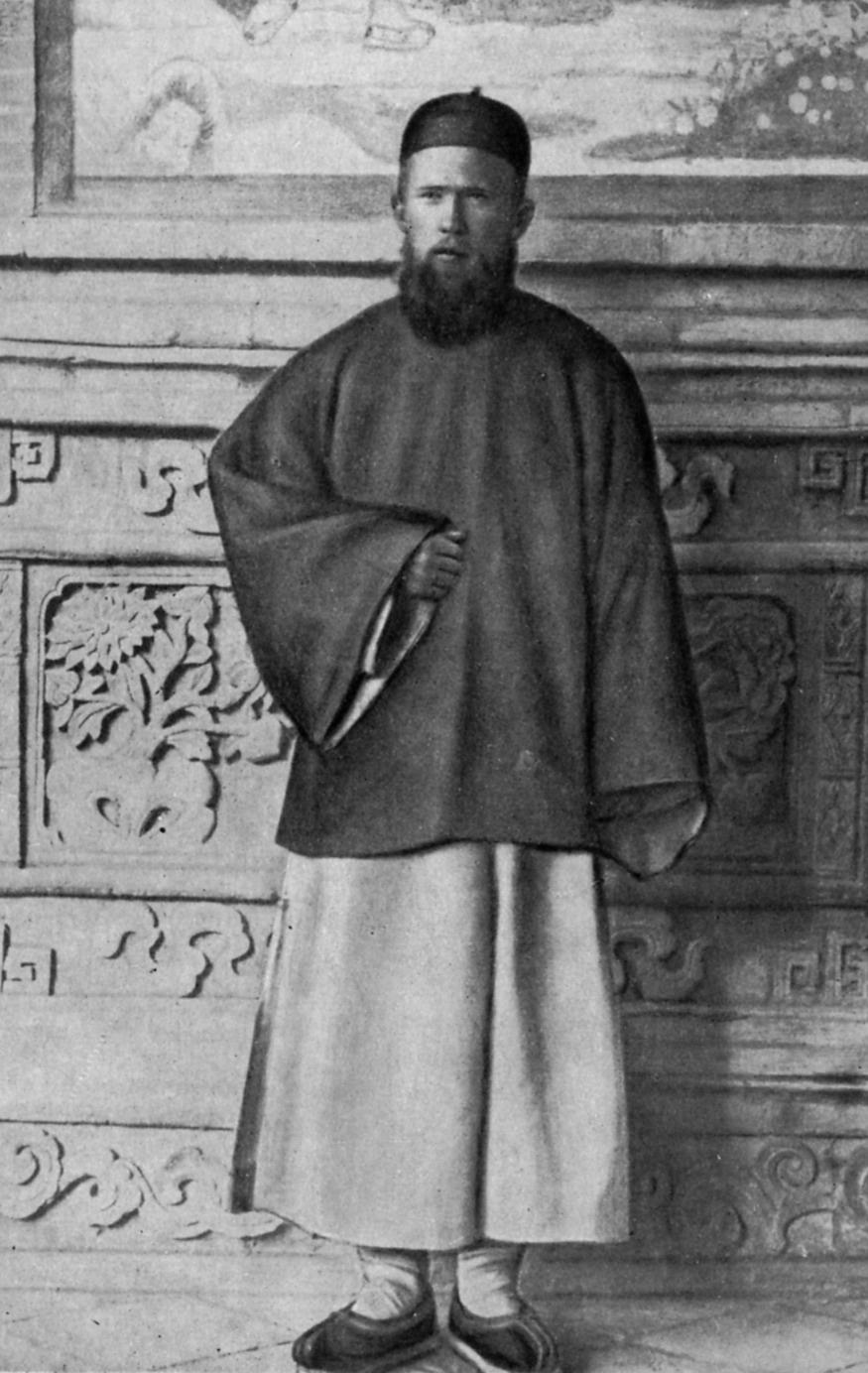 Академик Владимир Обручев в китайском костюме, 1893 год