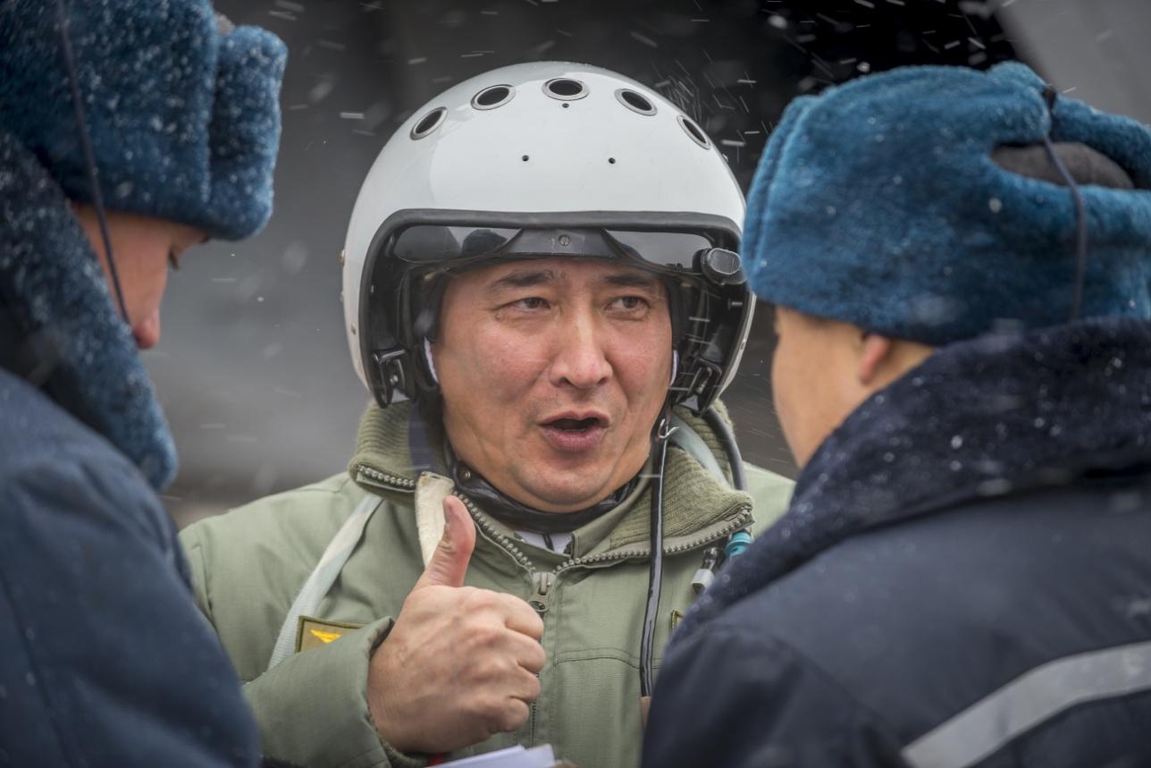 Полковник Бауыржан Амренов, заместитель командира авиабазы па безопасности полётов