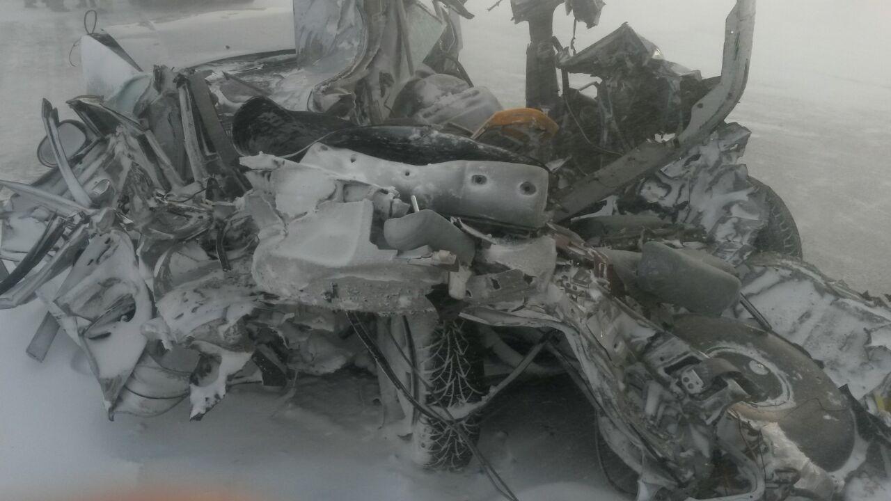 Авария произошла в Акмолинской области