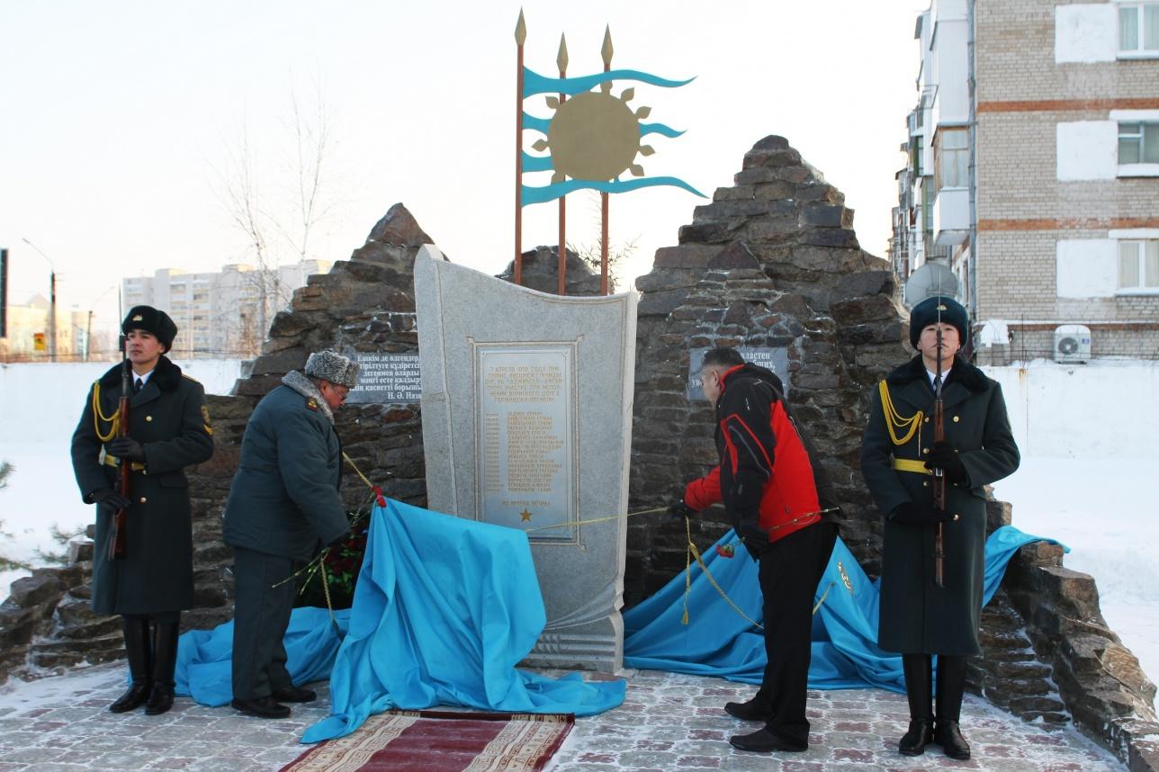 Открытие обелиска в Петропавловске