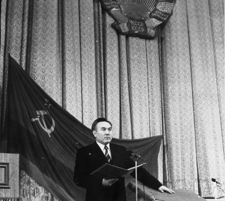 Торжественная присяга Назарбаева в 1991 году