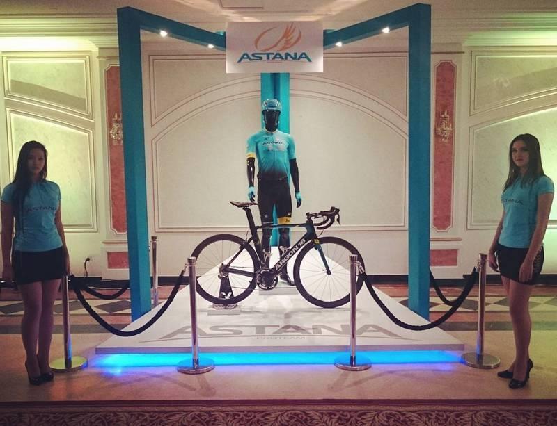 На презентации представили новые велосипеды команды