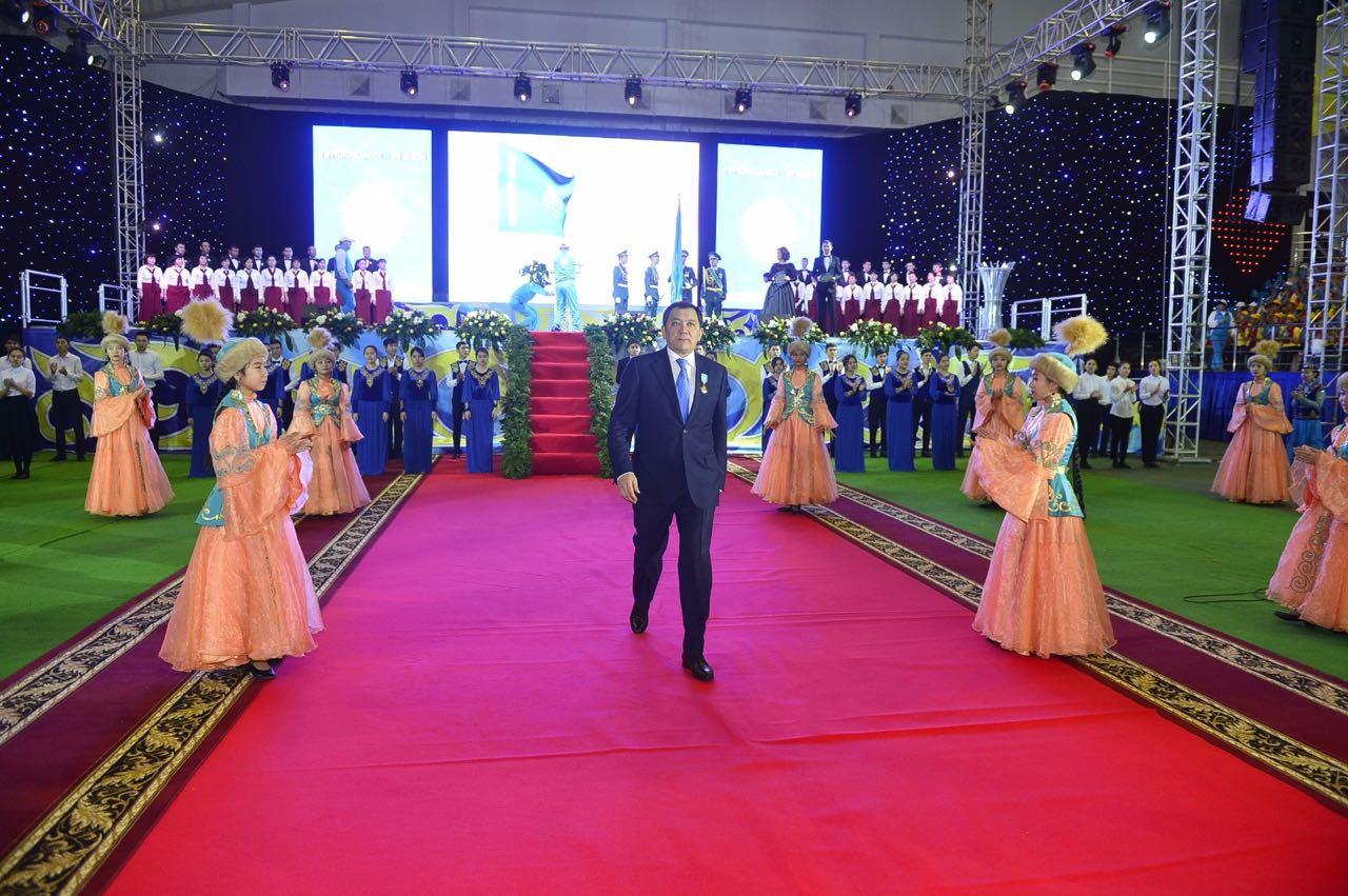 Нурлан Ногаев на торжественном открытии церемонии