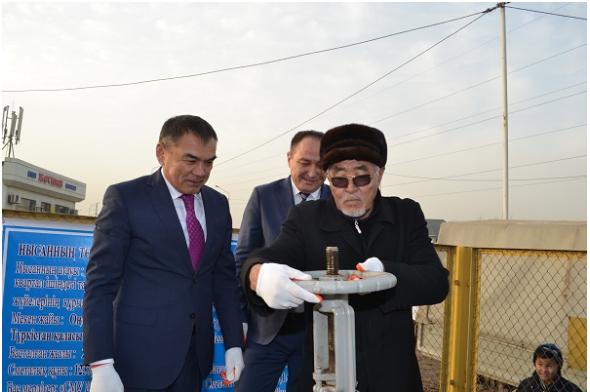 В Туркестан подали газ