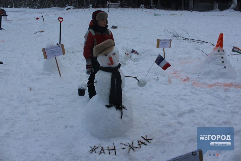 Снеговик из Франции, занявший второе место